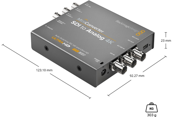 Mini Converter SDI to Analog 4K мини конвертер