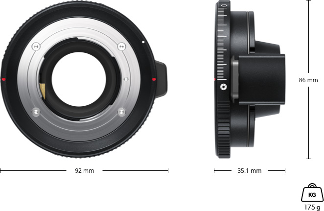 Blackmagic URSA Mini Pro F Mount сменный байонет